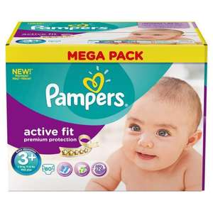2 x Mega Pack Couches Pampers Premium Protection Active Fit