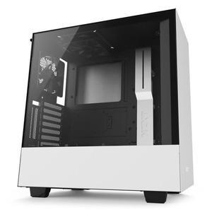 Boitier PC NZXT H500 - Blanc, panneau en verre trempé