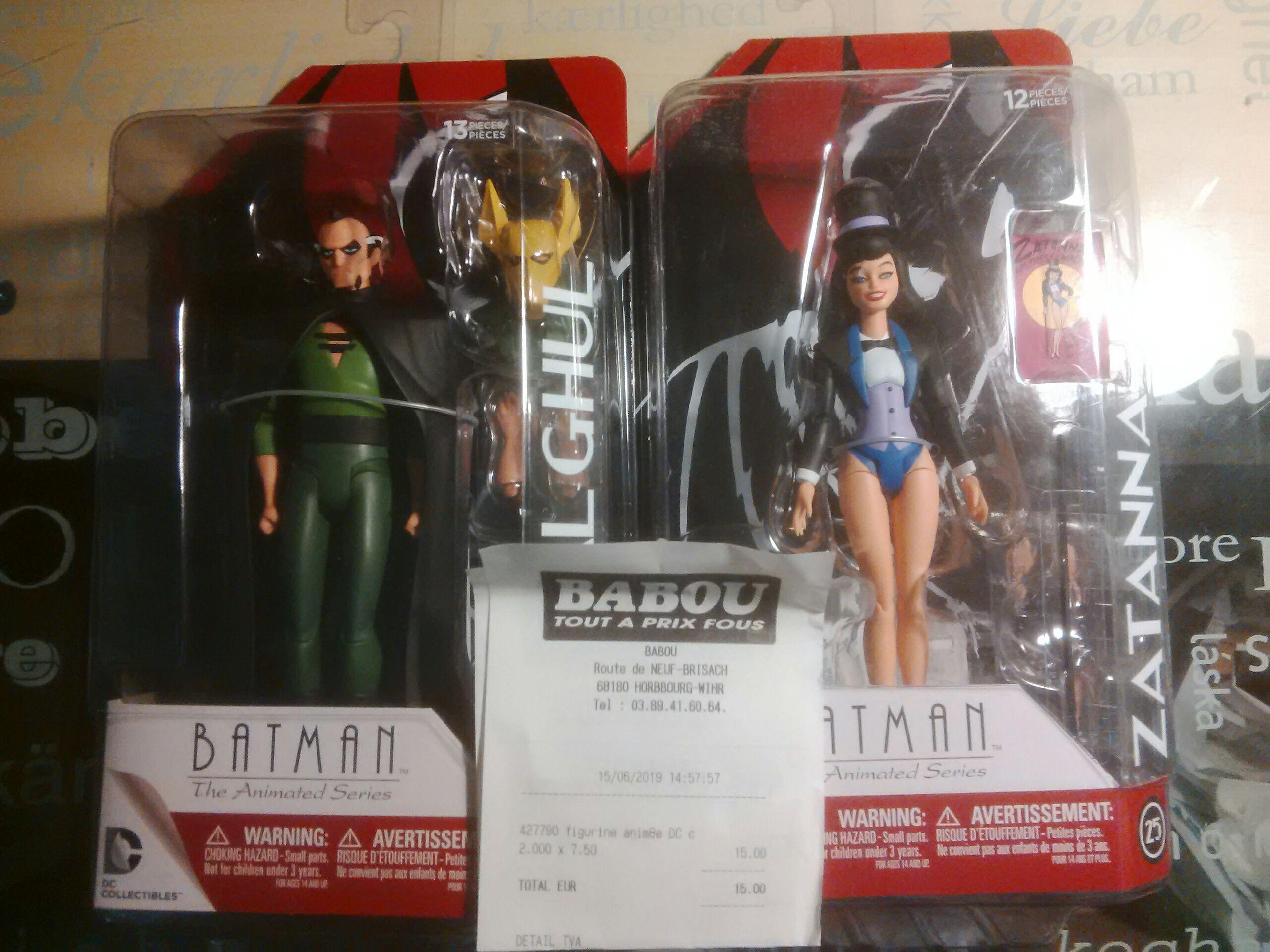 Figurine DC Collectibles Batman The Animated Series (Zatanna ou Ras') - Babou Colmar (68)