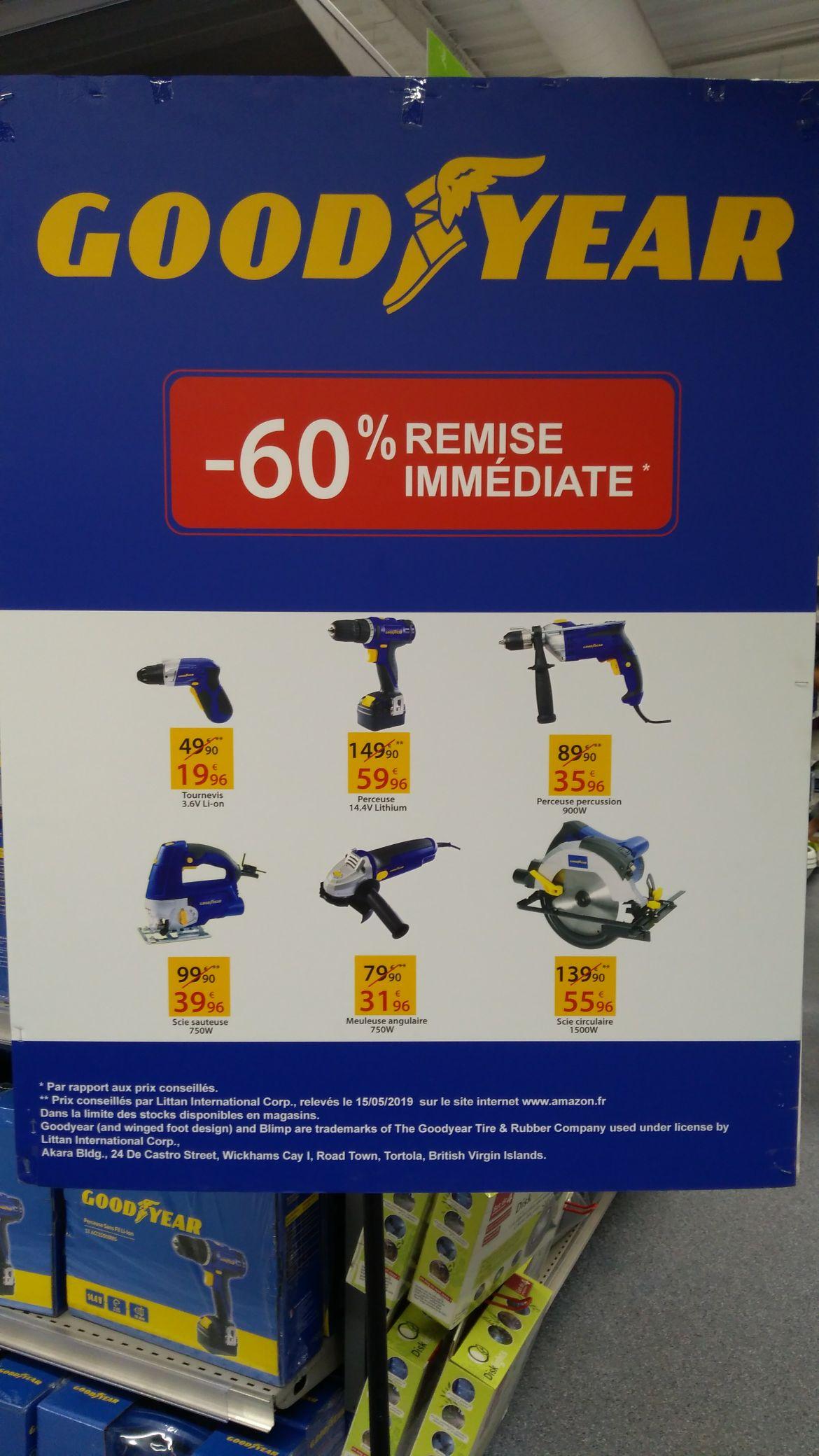 60% de réduction sur une sélection d'outils Good Year - Carrefour Evry 2 (91)
