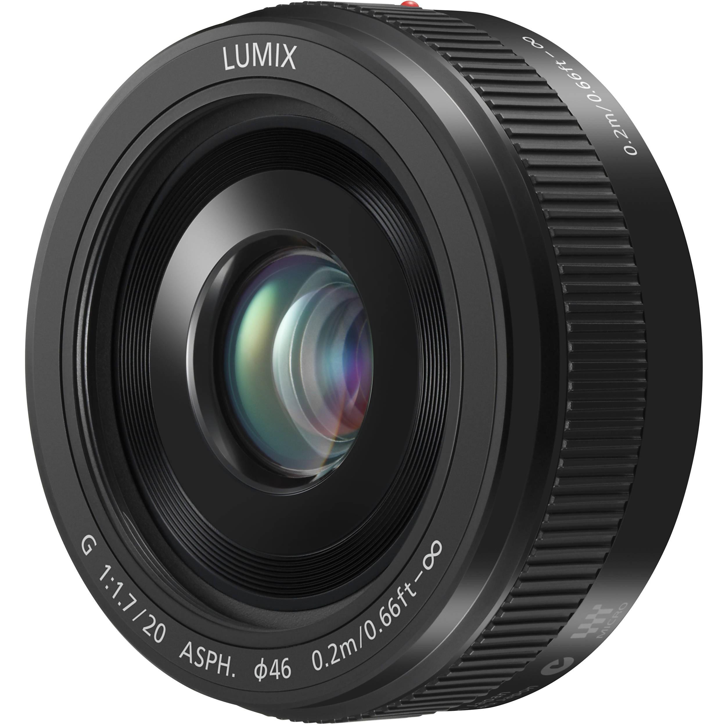 Objectif Panasonic Lumix G 20mm F/1.7 II ASPH - Noir, Monture micro 4/3