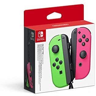 """Paire de manettes Joy-Con """"vert-néon / rose-néon"""" pour Nintendo Switch"""