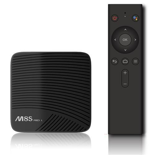 Box Android MeCool M8sPro (avec contrôle vocal) - 3 Go RAM, 32 Go ROM