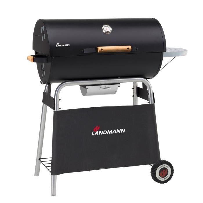 Barbecue à charbon en fonte émaillée Landmann Black Taurus 660 Expert