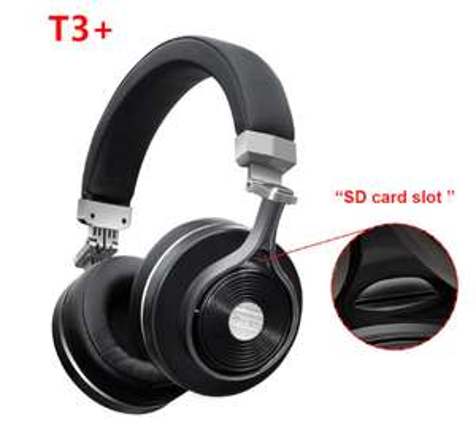 Casque Audio Sans-fil Bluedio T3 (avec port MicroSD) - Bluetooth (Entrepôt France)