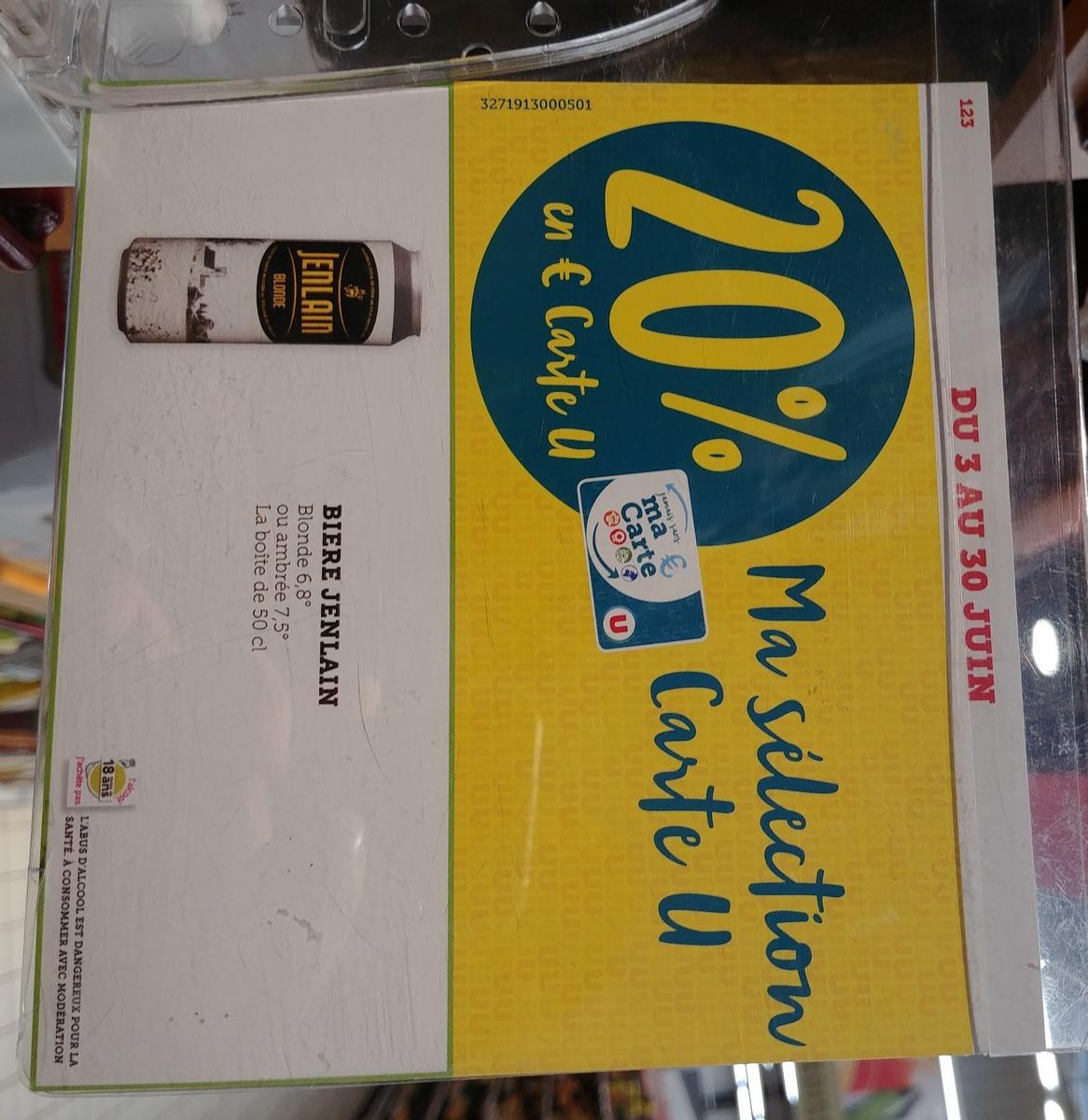 Bière blonde Jeanlaim - 50cl (via 0.26€ sur la carte fidélité) - Bihorel (76)