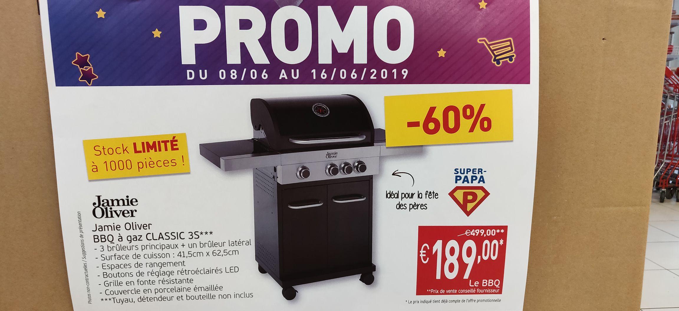Barbecue à gaz Jamie Olivier Classic 3S - Mouscron (Frontaliers Belgique)
