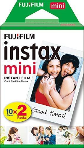 Pack de 20 recharges photo pour Fujifilm Instax Mini
