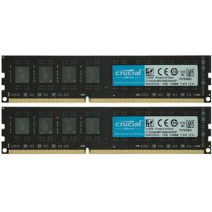 Kit mémoire RAM Crucial 12800U  - 16 Go (2 x 8Go) DDR3, 1600Mhz,  240Pin