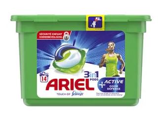 Boite de Lessive Ariel 3-en-1 Pods Gratuite - Variétés au choix (Via Carte de Fidélité + BDR)