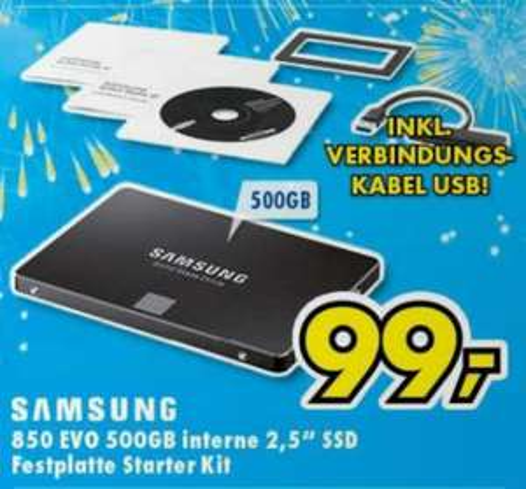 SSD Samsung EVO 850 500Go + Kit de démarrage