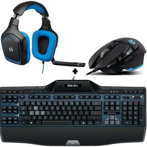 Pack Logitech Gaming : Clavier G510S + Souris G502 + Micro-Casque G430