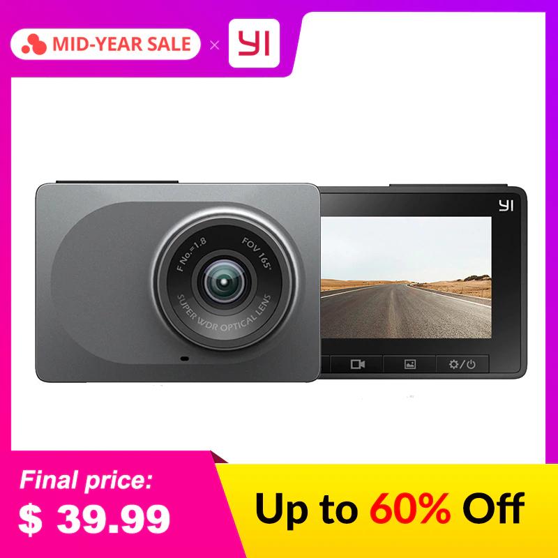 """Caméra embarquée YI (Gobal version) - WiFi, Vision nocturne, 1080 P, écran 2.7 """""""