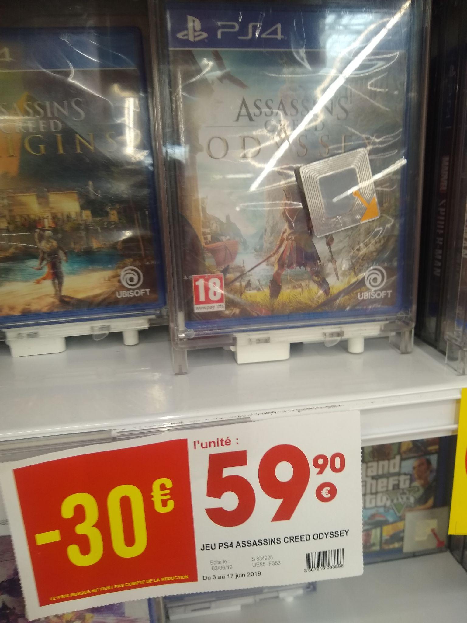 Sélection de jeux vidéo en promotion (Ex: Assassin's Creed Odyssey sur PS4 & Xbox One) - Auxerre (89)