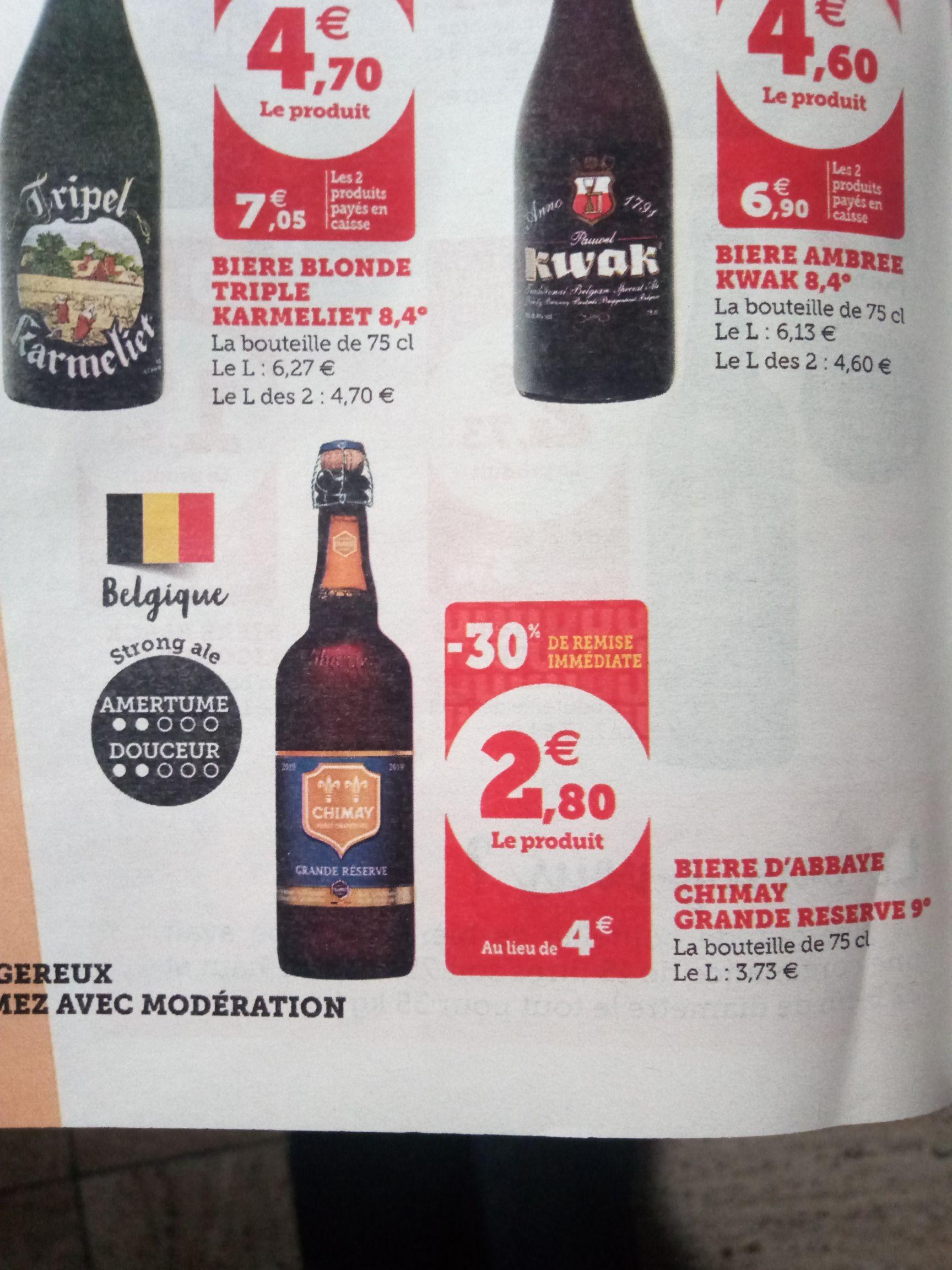 Bouteille de Bière Chimay Bleue - 75cl