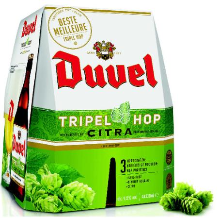Sélection de bières en promotion - Ex : Pack de 4 bières Duvel Triple Hop (4x33cl) à 5,56€