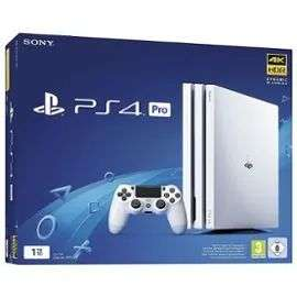 Console Sony PS4 Pro (Blanc) - 1 To + 72€ en Super Points