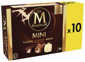 Boîte de 10 Glaces Magnum Mini (Variétés au choix) - 443 g (Via BDR)
