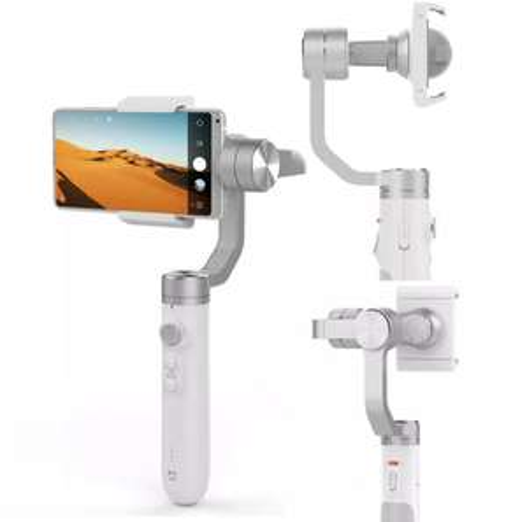 Stabilisateur Xiaomi Mijia SJYT01FM Gimbal White pour Caméras Sportives & Smartphones - 3 Axes