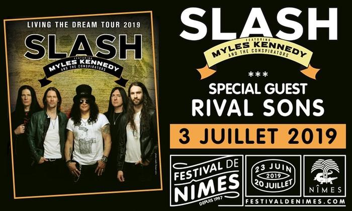 Place assise numérotée pour le Concert de Slash ft. Myles Kennedy - Arènes de Nîmes (30)