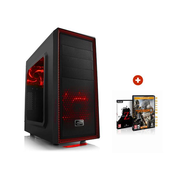 PC fixe Gaming Prime - Ryzen 3 2200G (4x3,5Ghz), RX 570 OC 8Go, RAM 8Go, SSD 240Go, Alim. 500W + The Division 2 et World War Z