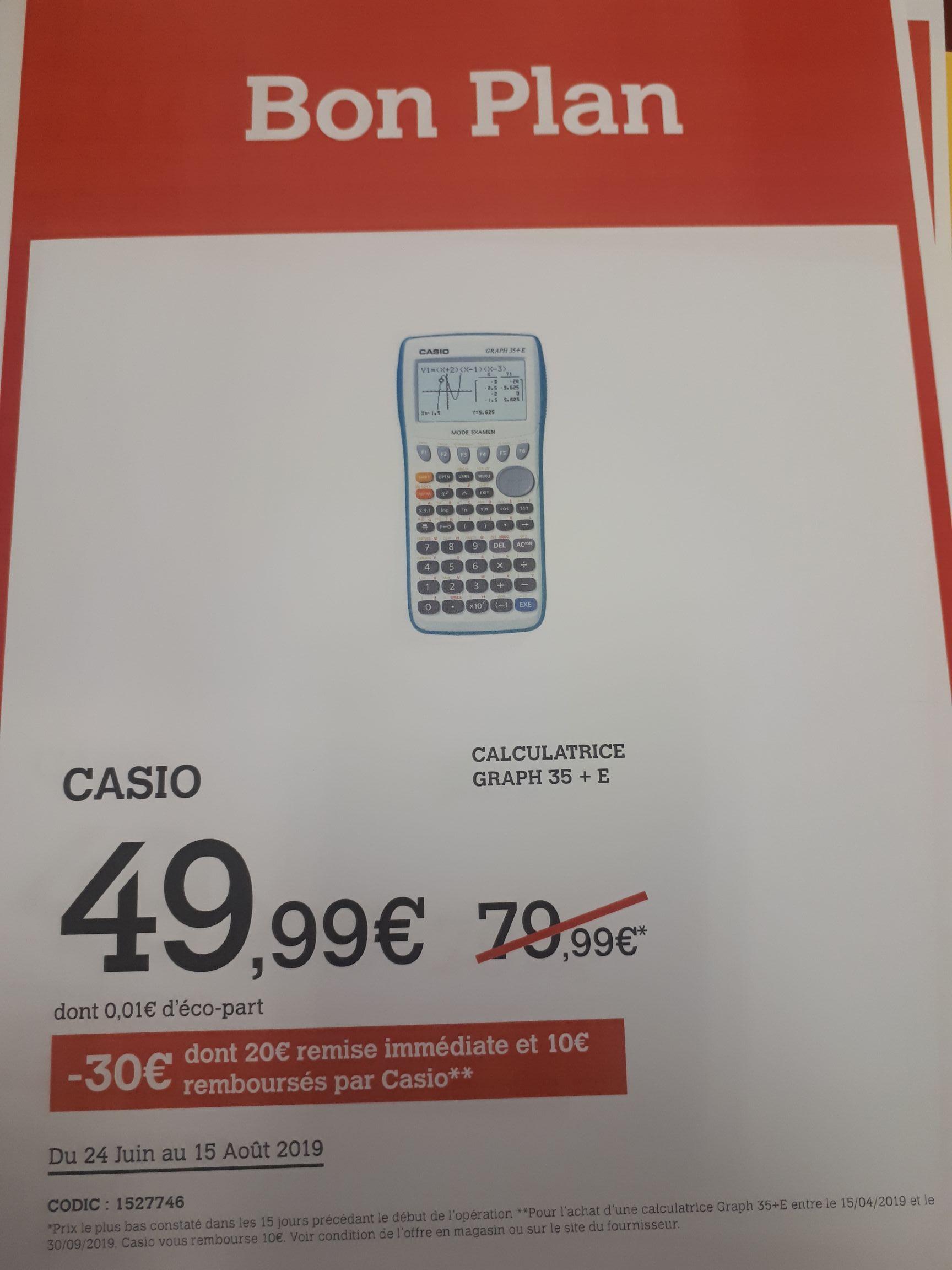 Calculatrice graphique Casio Graph 35+E (Via ODR de 10€) - Bron et Saint-Priest (69)