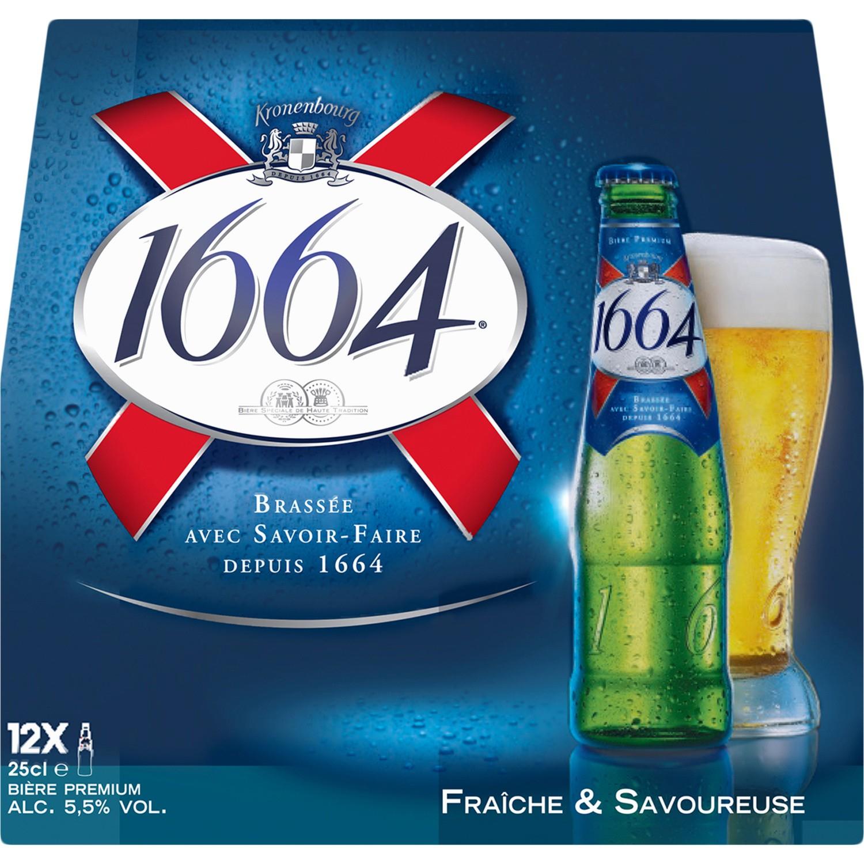 3 Packs de Bières 1664 Blonde - 12x25cl