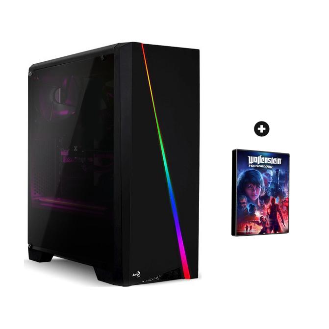 Tour PC Gamer Rage - Ryzen 5 2600, RTX 2060 OC (6Go), RAM 8Go (3000Mhz), 2To + SSD 240Go, Alim. 650W + 1 jeu offert (853,8€ avec RTX 2070)