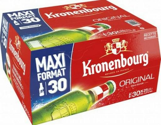 Pack de 30 Bières Kronembourg - 30x25cl (Via 4.22€ sur carte fidélité)