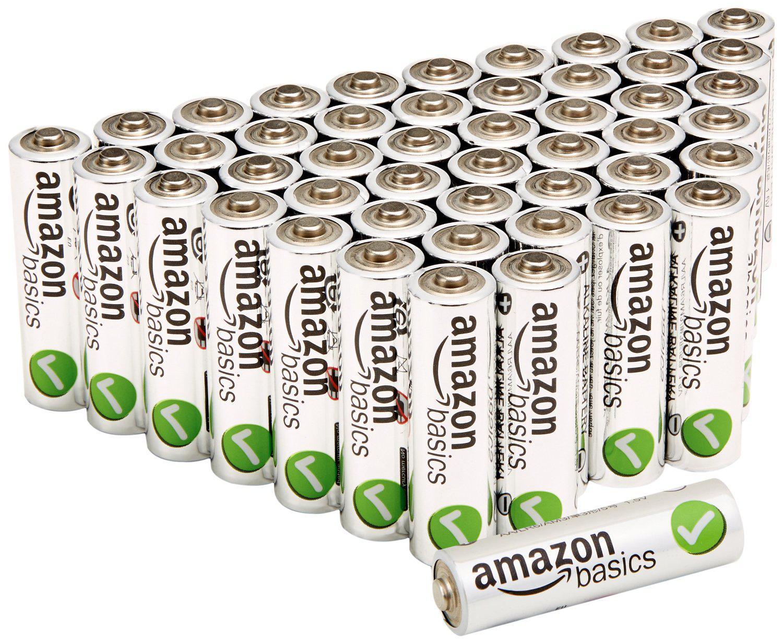 Lot de 48 piles AmazonBasics alcalines Performance AA