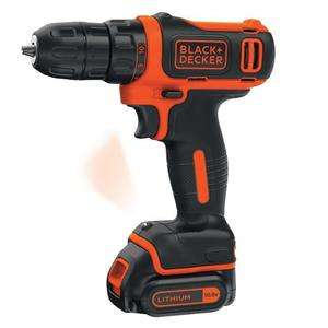 [CDAV] Perceuse-visseuse sans fil Black & Decker (BDCDD12-QW) - 1 batterie 1.5 Ah, 10,8V