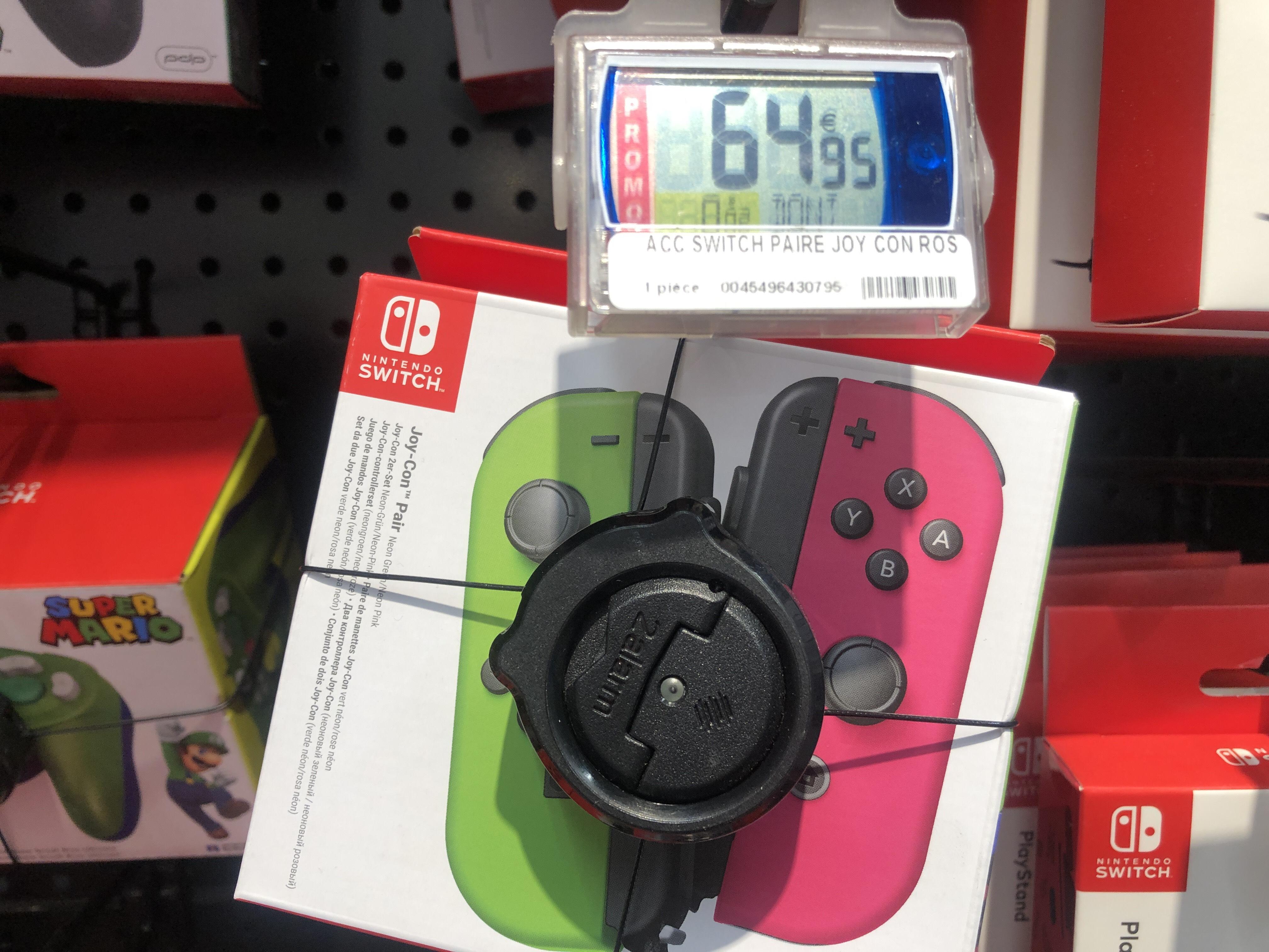 Paire de contrôleurs Nintendo Switch Joy-Con (rose / vert fluo) - Lattes (34)