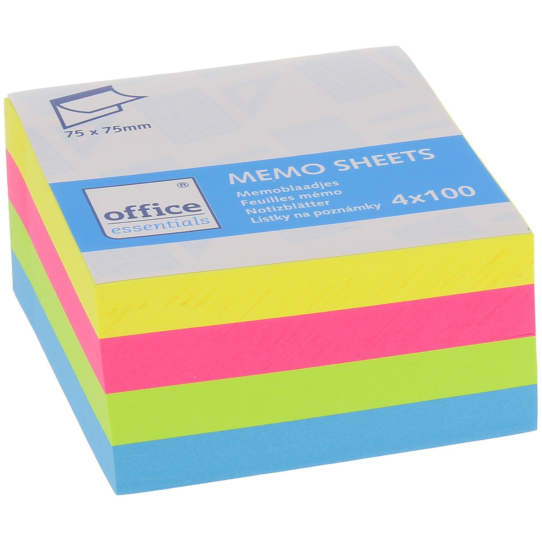 Feuillets Mémo Office Essentials - 4 x 100 Pièces