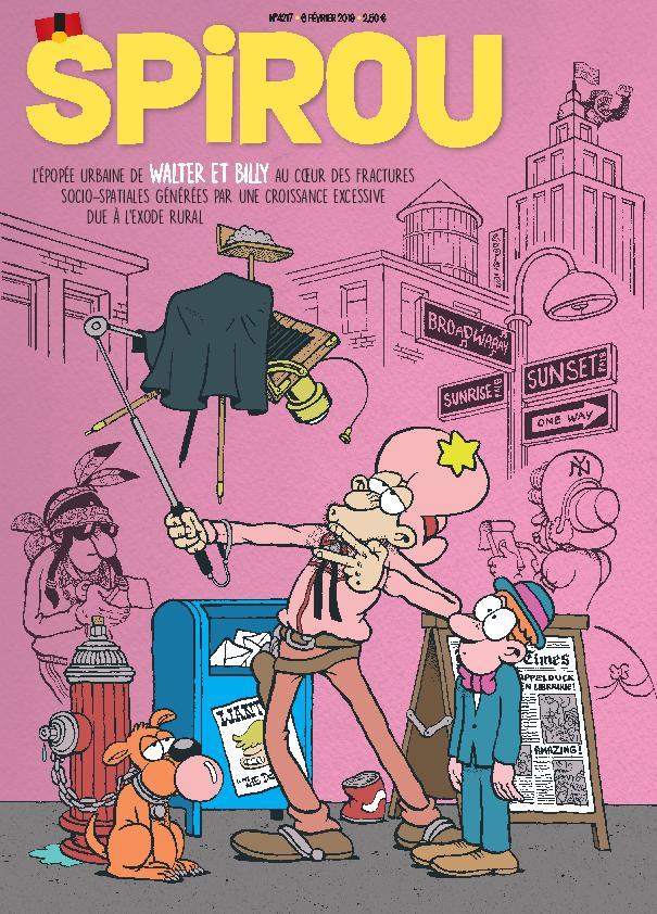 Abonnement 3 mois au Journal de Spirou (15 numéros) + Bande dessinée Louca Tome 1