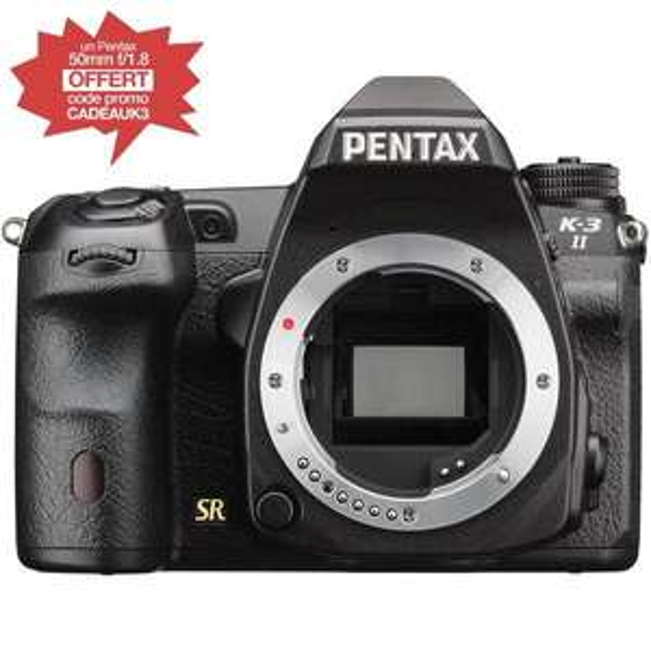 Appareil photo Reflex Pentax K-3 II (nouveau modèle) + Objectif 50mm f/1.8 offert