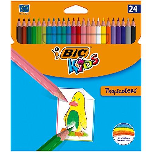 [Panier Plus] Etui de 24 crayons de couleur Bic Kids Tropicolors