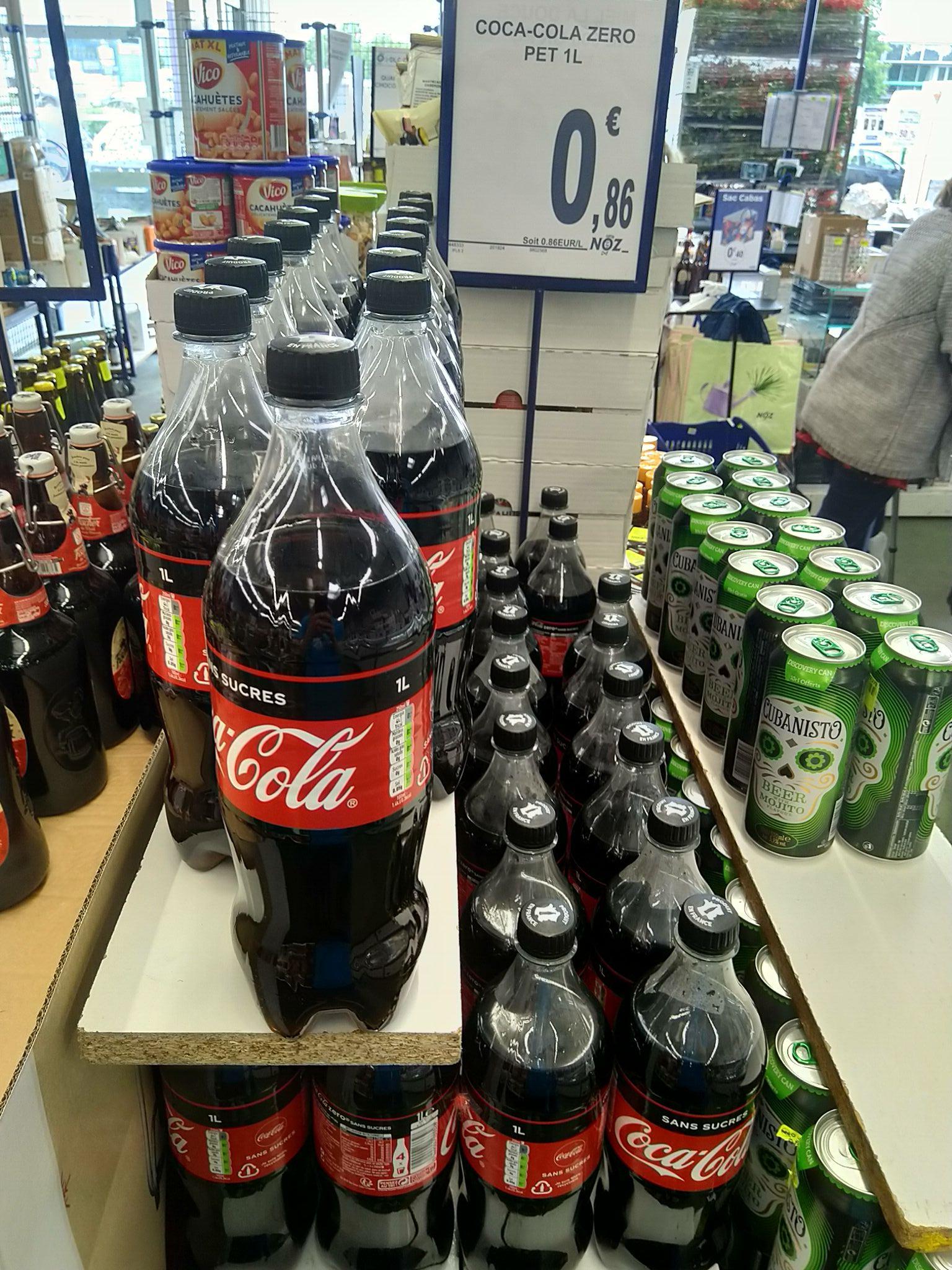 Bouteille de Coca-cola sans sucre 1 L - St Herblain (44)