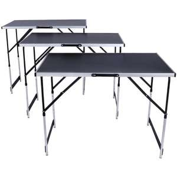 Lot de 3 Tables à Tapisser Pliables en aluminium (41.90€ avec le code RAKUTEN5 + 2.35€ en SupêrPoints)