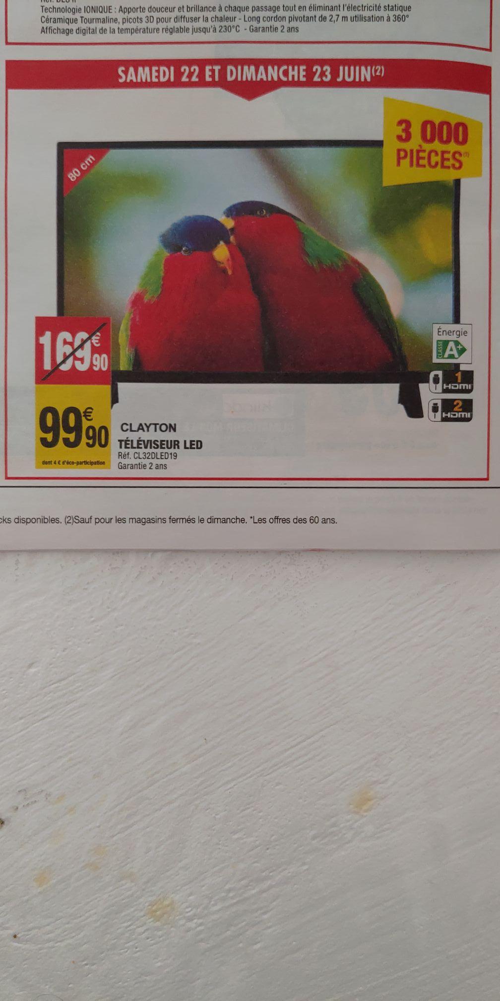 "TV 32"" Clayton CL32DLED16B - HD"