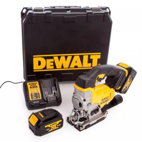 Scie sauteuse sans fil DeWalt 18V DCS331M2 - 135 mm, 2 batteries 4Ah, chargeur DCB115, mallette