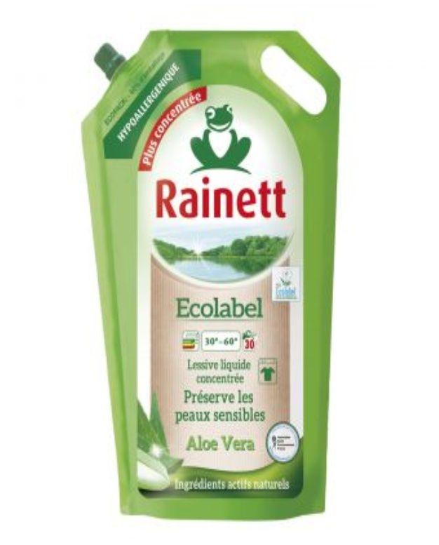 Lot de 2 Lessive liquide Rainett à l'Aloe Vera - 2 x 1.98L (Leader Drive)