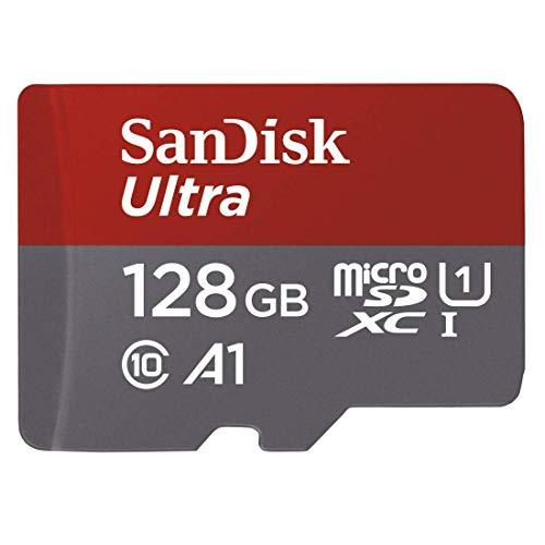 Carte microSDXC SanDisk Ultra A1 classe 10 (128 Go) + adaptateur SD