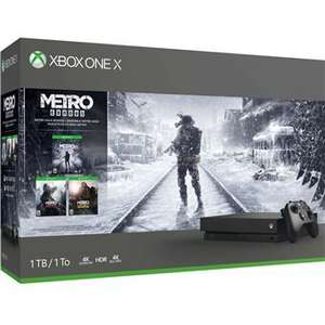 Pack Console Microsoft Xbox One X - 1 To + Metro Exodus Saga + Gears of War 4 (Voucher) + Pack Apex Legends Founders (Voucher)