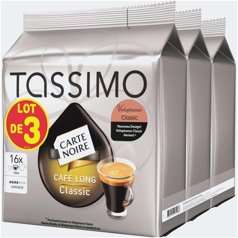 Sélection de Dosettes de Café Tassimo en Promotion - Ex:  Lot de 3 Carte Noire Café Long Classic