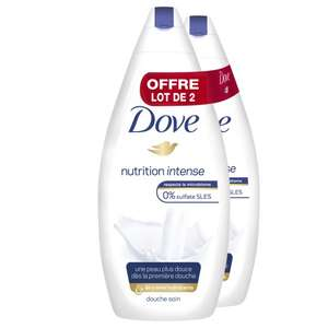 Lot de 2 gels douche DOVE 2 x 400 ml - differents varietes (Via 4,13 € fidélité et BDR)