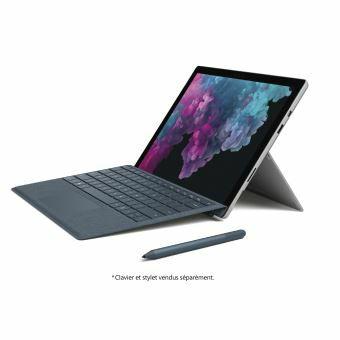 """Tablette tactile 12.3"""" Microsoft Surface Pro 6 - i5-8250U, 8 Go de RAM, 128 Go SSD, sans Clavier"""