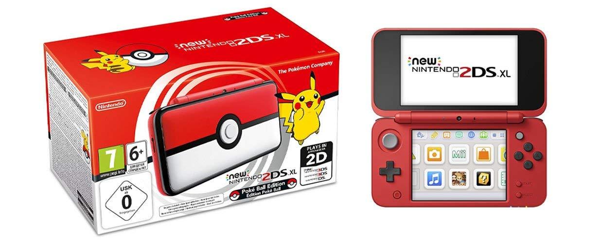 Console Portable New Nintendo 2DS XL - Édition Poké Ball