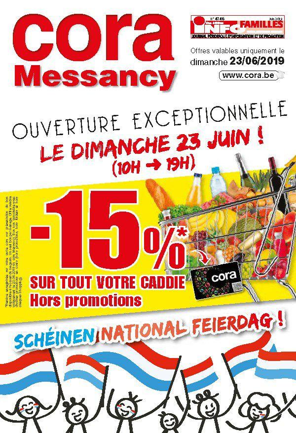 15% de réduction sur tout le caddie - hors promotions (Messancy - Frontaliers Belgique)