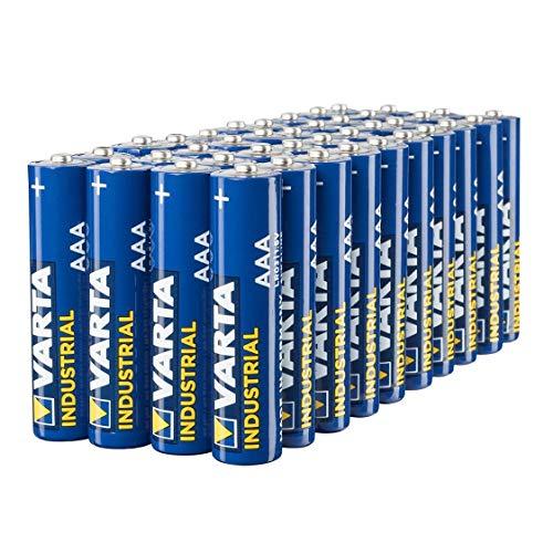 Pack de 40 Piles alcalines Varta 80411286501 - Industrial AAA Micro LR03