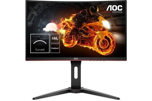 "Ecran PC Incurvé 24"" AOC C24G1 avec Pied Réglable - Full HD, Dalle VA, 144Hz, FreeSync, 1ms"